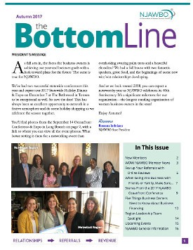Autumn 2017 issue of NJAWBO's The Bottom Line