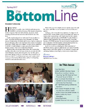 Spring 2017 issue of NJAWBO's The Bottom Line