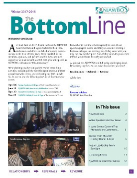 Winter 2017-2018 issue of NJAWBO's The Bottom Line